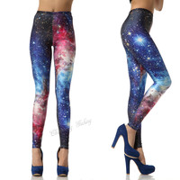 Corlorful Blazing Galaxy Leggings Blue from Charming Galaxy