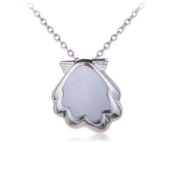 Sterling Silver Sunrise Shell Pendant Mother-of-pearl Inlay(Chain Sold Separately)