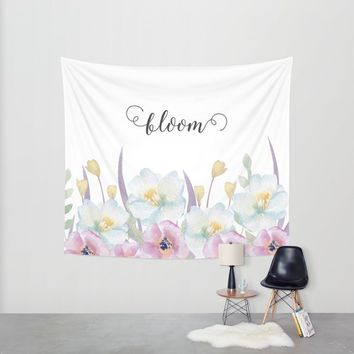 bloom Wall Tapestry by Sylvia Cook Photography