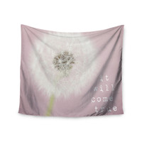 "Susannah Tucker ""It Will Come True"" Pink Flower Wall Tapestry"