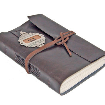 Faux Leather Journal - Handmade Journal - Travel Diary - Personalized - Blank Paper - Lined Paper - Prayer Journal - Travel Journal -