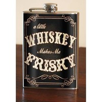 Flask - 8oz. - Frisky Whiskey  - Stainless Steel by Trixie and Milo