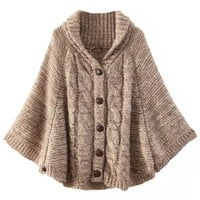 Stylish Cable Knit Sweater Coat - OASAP.com