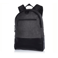 River Island MensGrey rubberised backpack