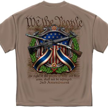New AR15  2ND AMENDMENT RIFLE T SHIRT WE THE PEOPLE  NRA  SHIRT- USA