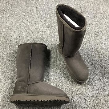 Best Online Sale Ugg 5815 Brown Classic II Tall Boot Sheepskin Boots Snow Boots