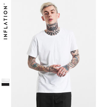 Summer Fashion T shirt Hip Hop Tshirt Men Summer Blank Urban Men Tee Tops Streetwear T-Shirts