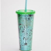 Rick and Morty Cup With Straw - 16 oz - Spencer's