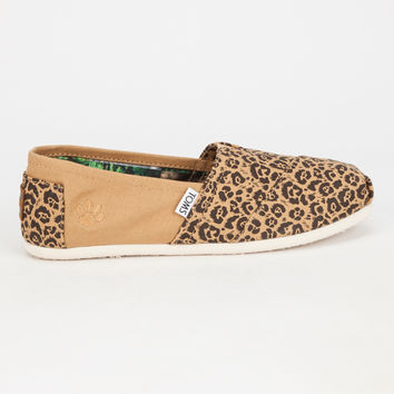 Toms Nat Geo Jaguar Canvas Womens Classic Slip-Ons Multi  In Sizes