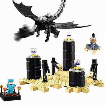 10178 Minecraft Ender Dragon Ultimate Battle Set 634pcs Create Legoing Minecraft 21117 World Building Blocks Toys for Children