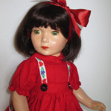 Vintage Composition Sybil Jason Doll 1930's Rare Celebrity Child Star Character Shirley Temple Costar