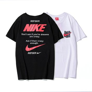 hcxx 19June 089 Nike off white Just do it Letter Sprint Loose T-Shirt