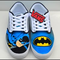Mens Shoes, 100% Hand Painted, Mens Painted Vans or Converse, Mens Custom Shoes, Vans, Converse, Batman Shoes, Gifts for Men