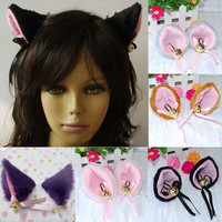 Punk Goth Rocker Cosplay Party Anime Cat Fox Ears Hair Clip