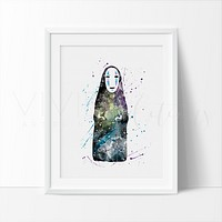 Faceless God Kaonasi Watercolor Art Print