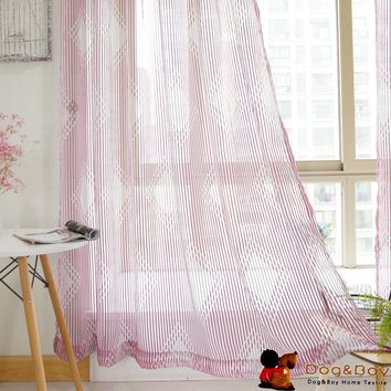 Higth Quality Stripe Sheer Curtain For Living Room Modern Style Window Curtain
