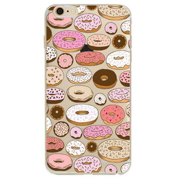 Lots of pink, chocolate, and iced donuts Phone Case For iPhone 7 7Plus 6 6s Plus 5 5s SE