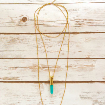 St. Jade Crystal Multi-Layer Necklace