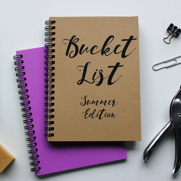 SUMMER EDITION - Bucket List -   5 x 7 journal