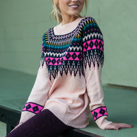 Winter Wonderland Sweater, Pink