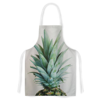 """Chelsea Victoria """" The Pineapple"""" Green Gold Artistic Apron"""