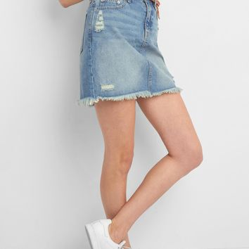 Denim mini pencil skirt | Gap