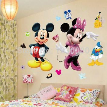 Mickey Mouse Minnie Vinyl Mural Wall Sticker Decals Kids Nursery Room Decor WS