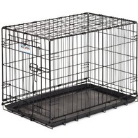 Precision Pet Products Black ProValu2 Dog Crate 3000, 30-Inch-by-19-Inch-by-21-Inch, 1-Door