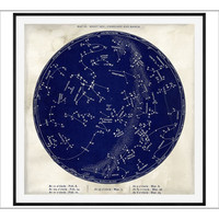 Pottery Barn Astrological Chart Framed Print from Pottery Barn | BHG.com Shop