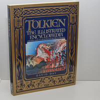 Tolkien - The Illustrated Encyclopedia, c.1992, 279 pages with index, LIKE NEW, 100+ images, Middle Earth, Bilbo Baggins, Elrond, Rivendell