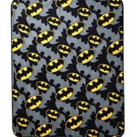 DC Comics Batman Logos Super Plush Throw