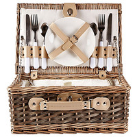 KJ COLLECTION Willow Picnic Basket with Cooler