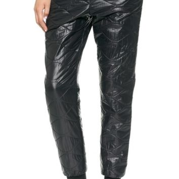 T by Alexander Wang Quilted Nylon Track Pants