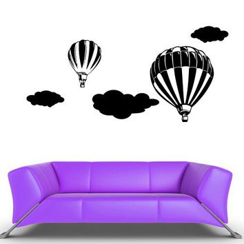 Wall Decal Vinyl Decal Sticker Decor Art Bedroom Decal Air Balloon  z536