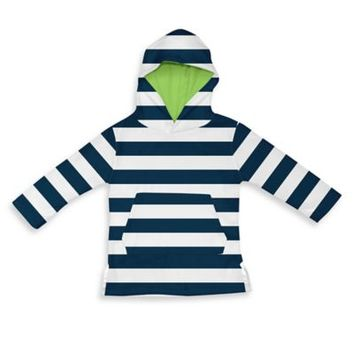 i play.® Terry Hoodie Cover-Up in White/Navy Stripe