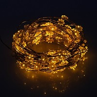 Innoo Tech Battery Operated String Lights 40 LED Warm White Fairy Light Double-deck Lotus Lamp Beads for Christmas Decoration