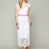 Miguelina   Lilly Vintage Embroidered Dress at Free People Clothing Boutique