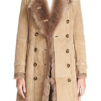 Shop Burberry Shearling Coat on Wanelo
