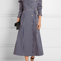 Preen by Thornton Bregazzi - Jette crystal-embellished gingham twill trench coat