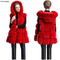 New fur vest women 2017 autumn and winter women fur import leather vest fur coat casual senior hooded women jacket leather vest