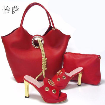 latest design italian shoes and bags set to match high quality fashion style women shoes! AS1-32