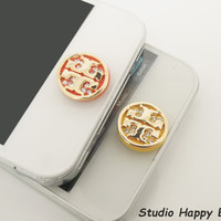 1PC Bling Crystal Golden Cross Apple iPhone by StudioHappyBird