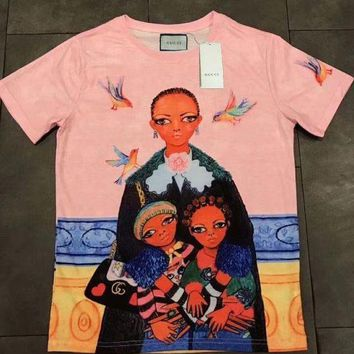 Gucci Girl Printed Short Sleeve L Gqhy Dlsx