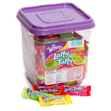 Wonka Laffy Taffy Candy - Assorted: 145-Piece Tub
