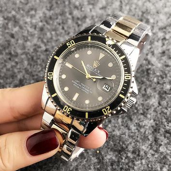 Rolex New fashion couple stainless steel business watch