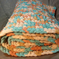 Chunky, Super Soft, Colorful,  Crochet Baby Blanket, Baby Shower Gift, Plush Blanket, Lap Blanket, Lapghan