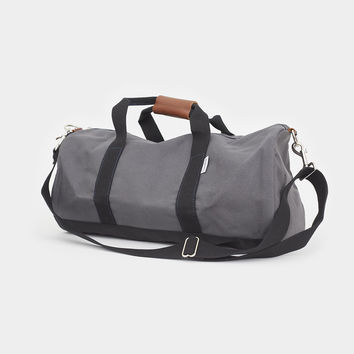 Work Hard, Play Hard Duffel - Green & Grey