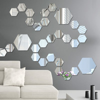 Hexagon Mirror Wall Decal Vinyl Stickers