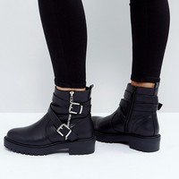 ASOS ACCESS Biker Boots at asos.com