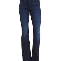 Taylor High-Rise Flare-Leg Jeans, Rogue